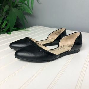 Lifestride Quintessa Black Ballet Flats 7.5 Wide
